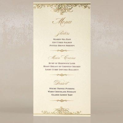 Gold Vivaldi svadobné menu